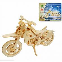 3D Деревянный конструктор. Модель Мотоцикл, Деревянные 3D конструкторы