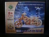 3D Деревянный конструктор. Модель Мотоцикл, Деревянные 3D конструкторы, фото 2