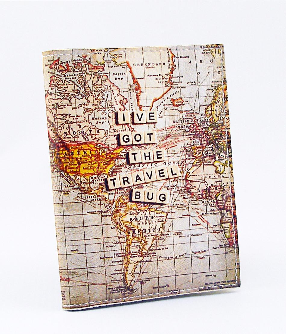 Обложка для водительских прав Карта мира, Обложки для автодокументов с вкладышем