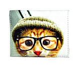 Обложка на ID паспорт Кот в очках, Обложки на ID-карты и пластиковые права, фото 3