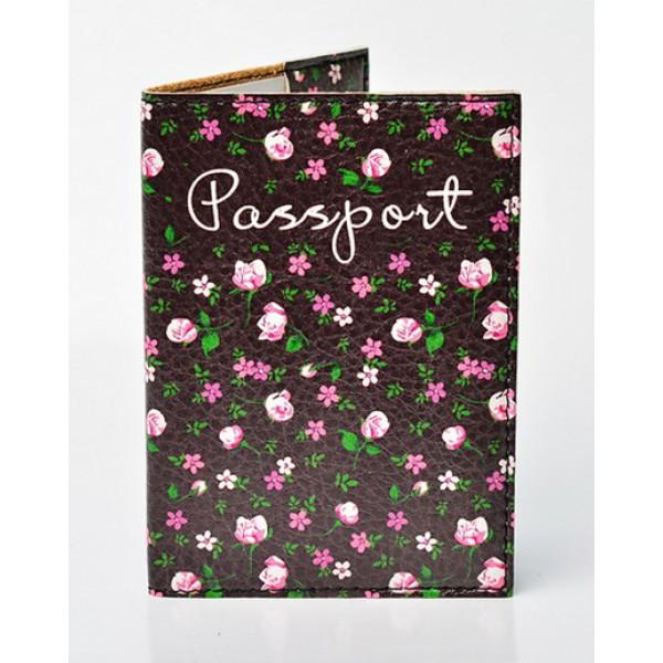 Обложка для паспорта Цветы, Обложки на Укр/Загранпаспорт