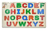 Дерев'яна іграшка Дощечка Вкладки Англійська абетка (90092)