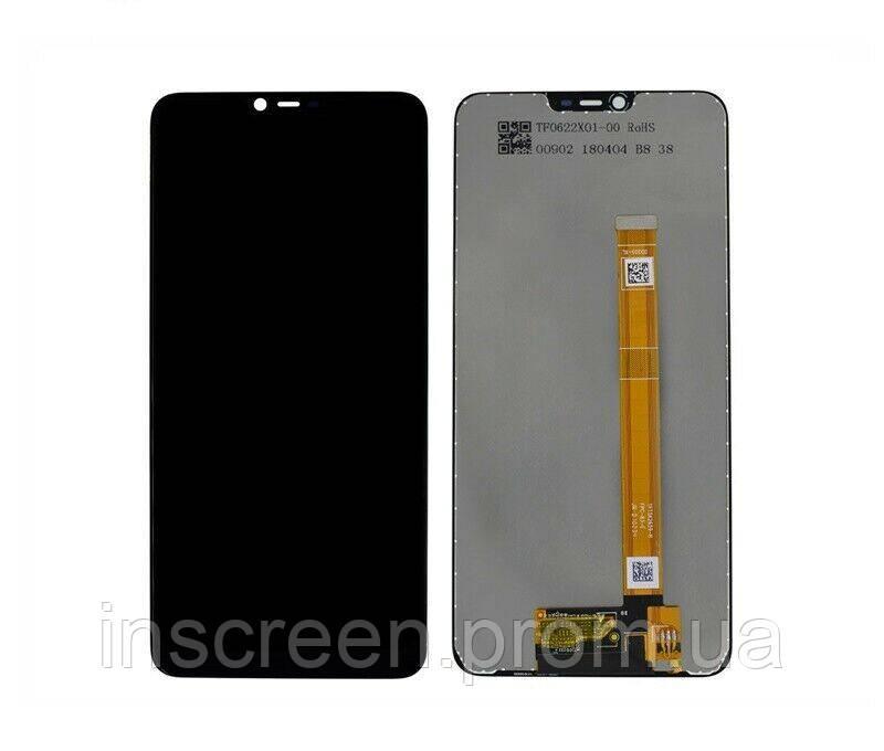 Экран (дисплей) Oppo A3s, Oppo A5 2018, Realme C1 с тачскрином (сенсором) черный