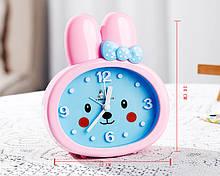 Дитячі настільні годинники-будильник Зайчик. Білі вушка УЦІНКА, Дитячі товари| ТОП якість