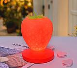 Силиконовый LED светильник-ночник Клубника. Красный, Детские товары, фото 8
