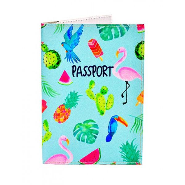 Обложка для паспорта Тропики, Обложки на Укр/Загранпаспорт