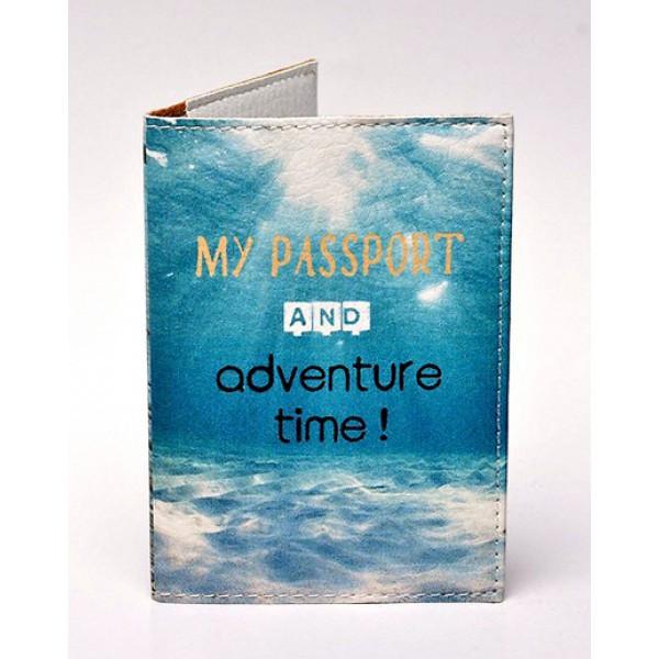 Обложка для паспорта Время приключений, Обложки на Укр/Загранпаспорт