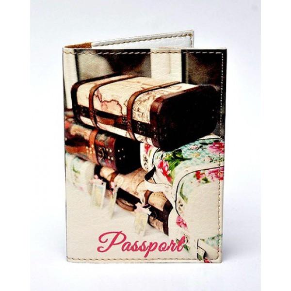 Обложка для паспорта Чемоданы, Обложки на Укр/Загранпаспорт