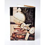 Обложка для паспорта Чемоданы, Обложки на Укр/Загранпаспорт, фото 3