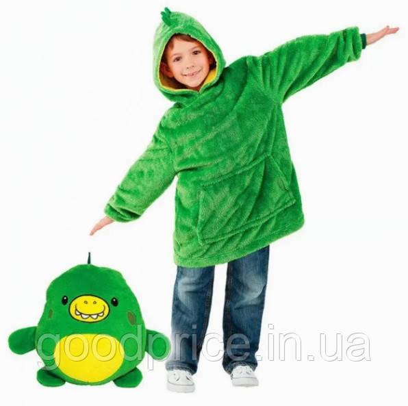 Детский плед худи-трансформер Huggle Pets, детская толстовка с капюшоном