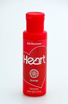 Heart Gel Remover Жидкость для снятия гель-лака - Апельсин, 100 мл