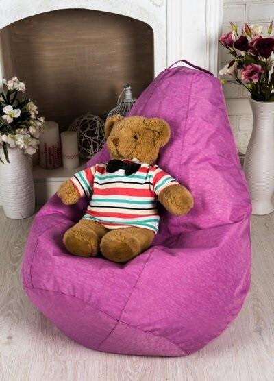 Детское Розовое Кресло-мешок груша