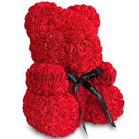 Мишка из 3D роз 40 см мишка Тедди из роз Красный, лучший подарок для девушки, мишка Teddy Bear