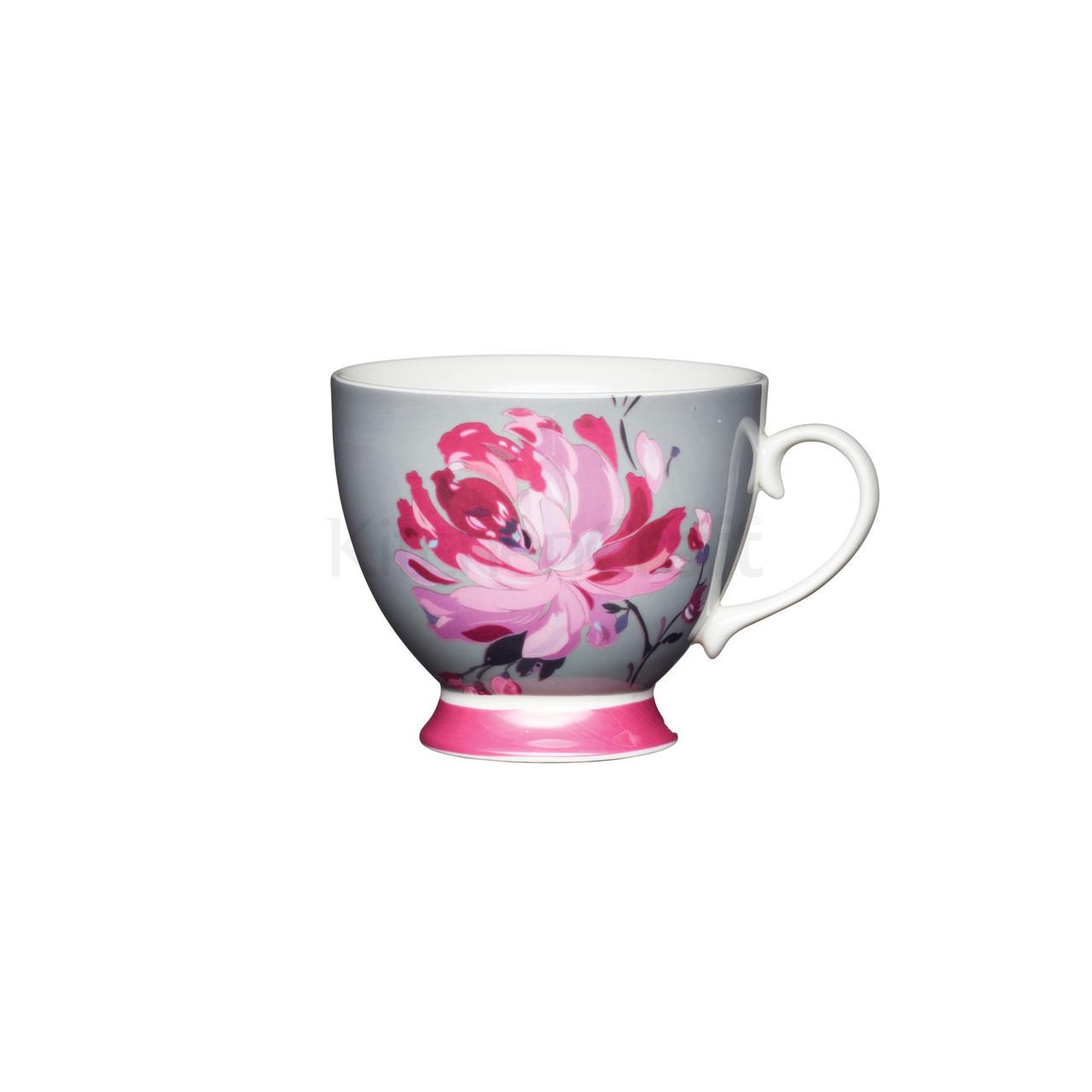 KC Чашка фарфоровая Розовый цветок 400 мл