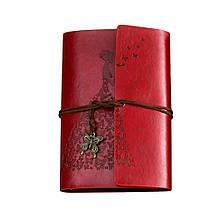 Винтажный блокнот Butterflies. Темно-красный, Подарочные блокноты