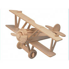 3D Деревянный конструктор. Модель Истребитель-биплан Ньюпор 17, Деревянные 3D конструкторы