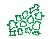 Let's Make Формочки для печенья Рождество пластиковые 12 элементов в тубе