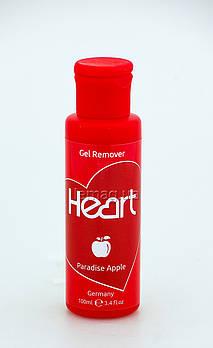 Heart Gel Remover Жидкость для снятия гель-лака - Райское яблоко, 100 мл