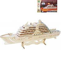 3D Деревянный конструктор. Модель корабль Круизный лайнер, Деревянные 3D конструкторы