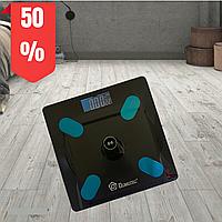Весы напольные Domotec MS-2017A 180 kg с приложением на телефон черные