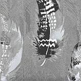 Комплект постельного белья Koloco серый полуторный Перья 150x210см, фото 2