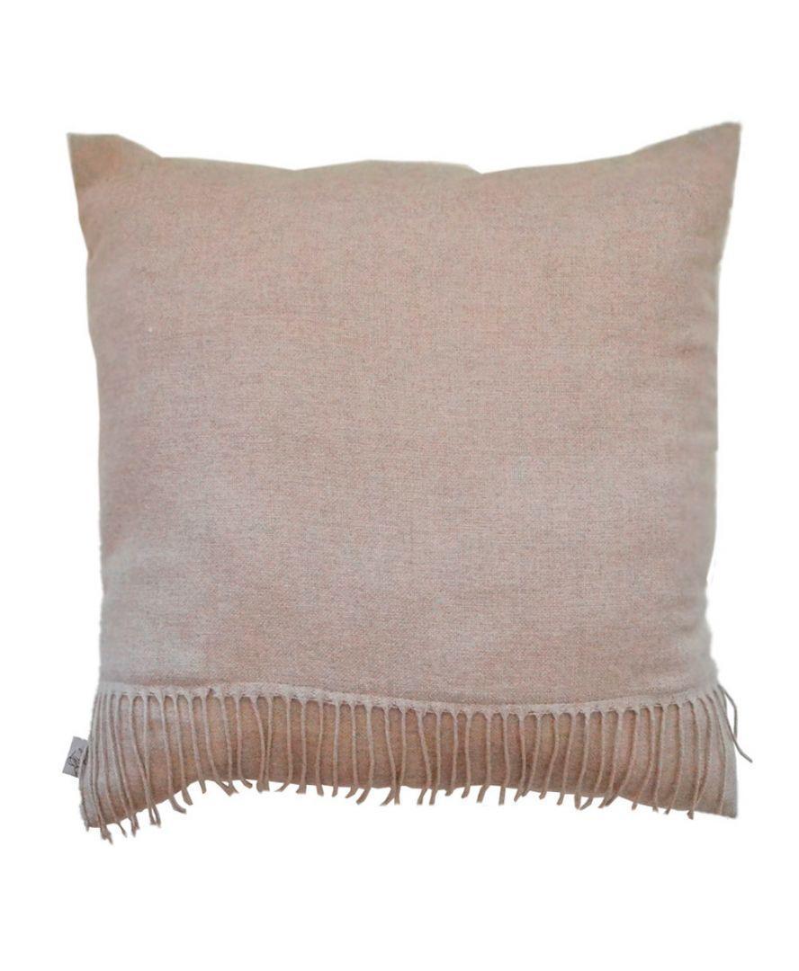 Декоративна подушка DIJON nature з бахромою 45х45см