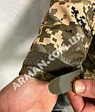 Куртка softshell пиксель ВСУ (ветровлагозащитная). Съёмный капюшон, фото 5