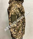 Куртка softshell пиксель ВСУ (ветровлагозащитная). Съёмный капюшон, фото 2
