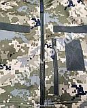 Куртка softshell пиксель ВСУ (ветровлагозащитная). Съёмный капюшон, фото 7