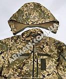 Куртка softshell пиксель ВСУ (ветровлагозащитная). Съёмный капюшон, фото 6
