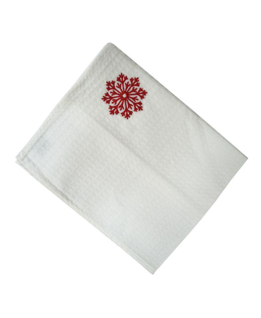 Вафельное полотенце Снежинка