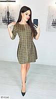 Вельветовое красивое платье мини замок спереди р-ры 42-44,44-46 арт 1169
