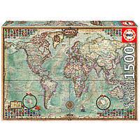 """Пазл """"Політична карта світу"""", 1500 елементів Educa (8412668160057)"""