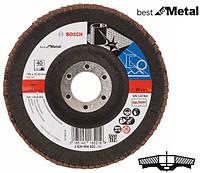 Круг шлифовальный лепестковый Bosch K40 125 мм Best for Metal