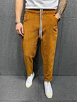 Мужские джинсы МОМ вельвет 2Y Premium P3007 Camel