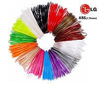 Набор АБС пластика по 5 метров каждого цвета из 15 цветов - ABS нить для 3д ручки, стержни для 3D pen 2
