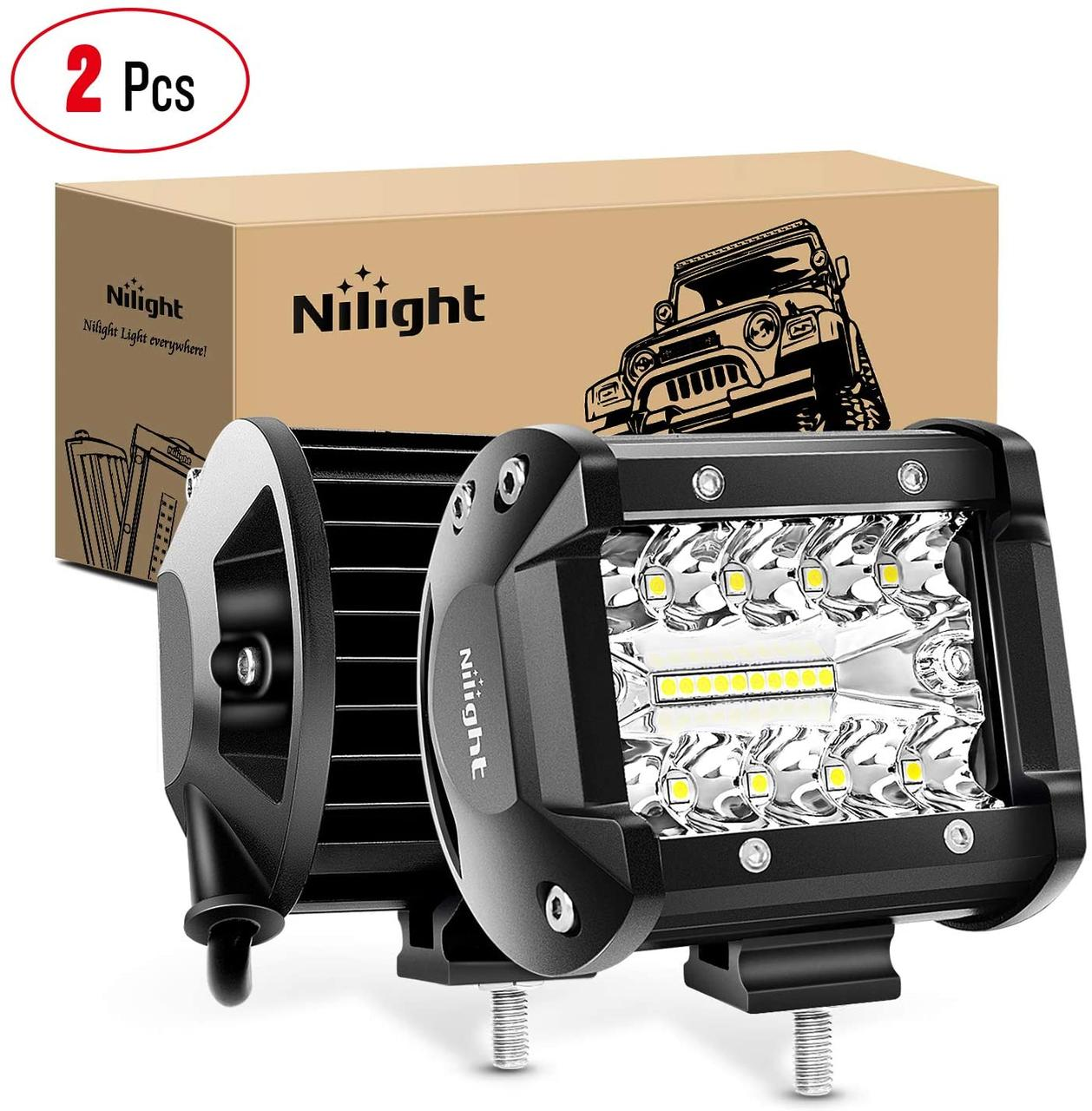 Светодиодная LED фара 60Вт (светодиоды 3w x20шт) (Комплект 2шт)
