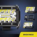 Светодиодная LED фара 60Вт (светодиоды 3w x20шт) (Комплект 2шт), фото 6