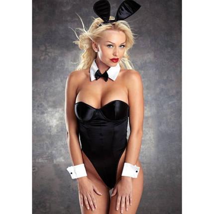 Эротический наряд зайчика Playboy косплей зайки Lady Bunny  сексуальный костюм с ушками S M, фото 2