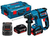 Аккумуляторный перфоратор Bosch GBH 18 V-EC + з/у GAL 1880 CV + 2 x акб GBA 18V 5 Ah + L-boxx, фото 1