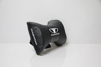 Подушки на підголовник з логотипом автомобіля daewoo (чорний колір)