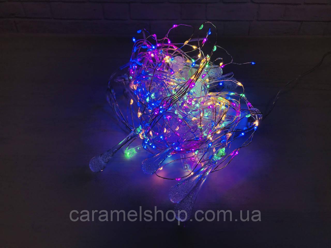 Світлодіодна гірлянда на вікно ВОДОСПАД 3x3 метри 480 W-3 led Curtain Light 220 v холодний світ