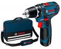 Аккумуляторный шуруповерт Bosch GSR12V-15 + акб 2Ah + сумка (0615990G6L1)