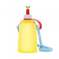 Силиконовая складная бутылка для воды Джумони. Желтая, Спорт и отдых