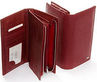 Женский кожаный большой бордовый кошелек Dr.Bond, фото 1