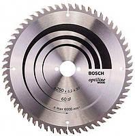 Пильный диск Bosch Optiline Wood 250×3,2×30 мм, 60 KW (2608640665)