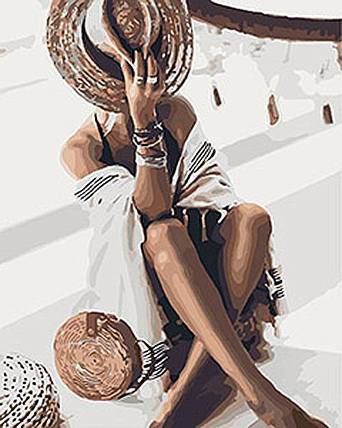 "Картина по номерам Люди ""Волшебная незнакомка"" 40*50см KHO4569"