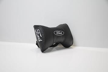 Подушки на подголовник с логотипом автомобиля ford (чёрный цвет)