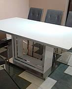 Стол обеденный в соременном стиле Олимп Sof, цвет белый