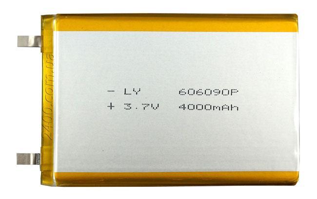 Аккумулятор 4000mAh 3.7v 606090 Li-Ion для планшетов без контроллера 3.7v (4000 мАч)